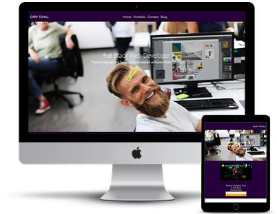 react js portofolio web design
