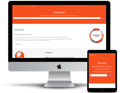 konect responsive web design with job board london ontario
