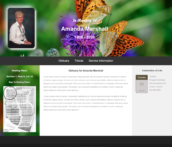 eternal directory - wordpress plugin developer - cemetery and funeral homes